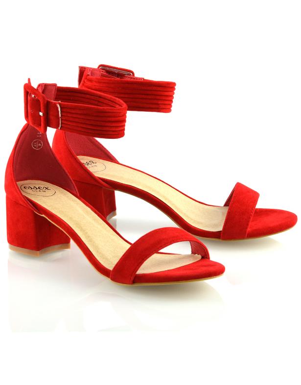 red block sandal heels